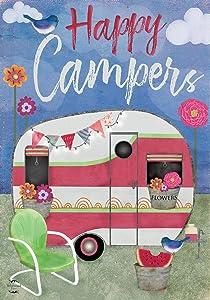 """Briarwood Lane Camping Weather Summer Garden Flag Primitive Camper 12.5"""" x 18"""""""