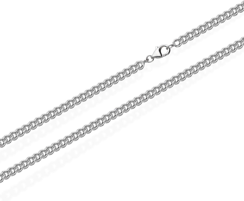 catena in massiccio argento Sterling 925 collana groumette da 2,0 mm di larghezza NKlaus
