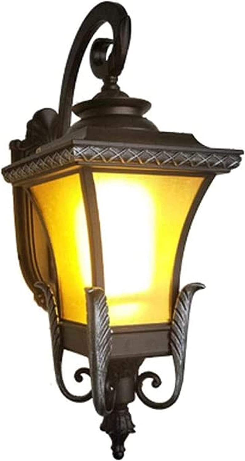 Outside Indoor LED Wall Light , , Outdoor Wall Light European Retro Courtyard American LED Outdoor Balcony Aisle Light Chinese Villa Door Exterior Wall Lamp Industrial E27 Home Decoration Lighting Sco