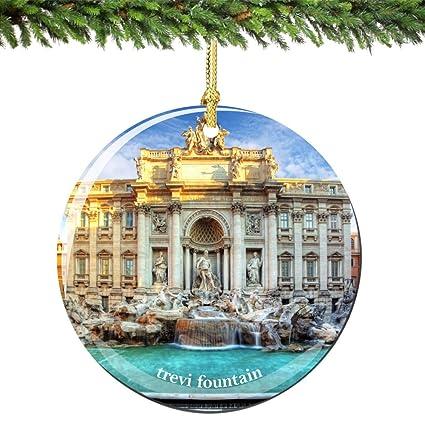 Rome Trevi Fountain Christmas Ornament Porcelain 2.75 Inch Double Sided  Italian Christmas Ornament Double Sided - Amazon.com: Rome Trevi Fountain Christmas Ornament Porcelain 2.75