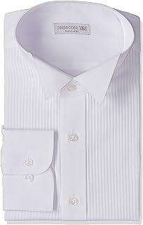 98258114ffb17  ドレスコード101  ウィングカラーシャツ 長袖 メンズ 結婚式 プリーツ フォト婚 フォーマル