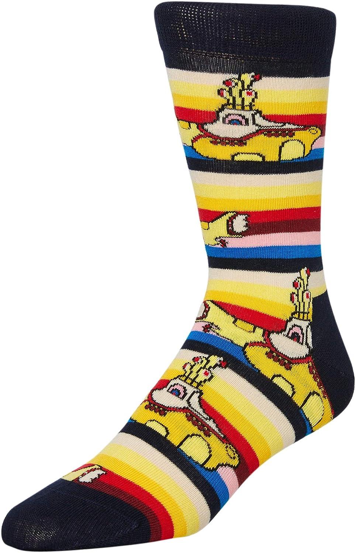 Amarillo//Marino Happy Socks Los Beatles Calcetines Amarillos Submarinos Hombres