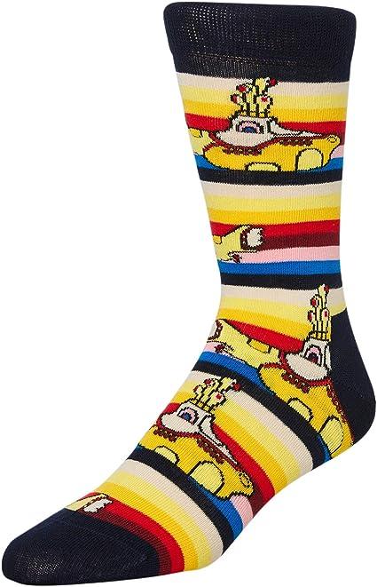 Happy Socks Los Beatles Calcetines Amarillos Submarinos Hombres, Amarillo/Marino Mediano/grande: Amazon.es: Ropa y accesorios