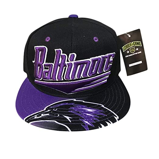 0be609682b0 Baltimore Skyline Cap in Ravens Colors Black   Purple at Amazon ...