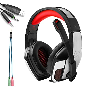 KOTIOM EACH G5300 Auriculares Cascos Gaming de Diadema Cerrados 3.5mm Cancelación de Ruido Gaming Headset