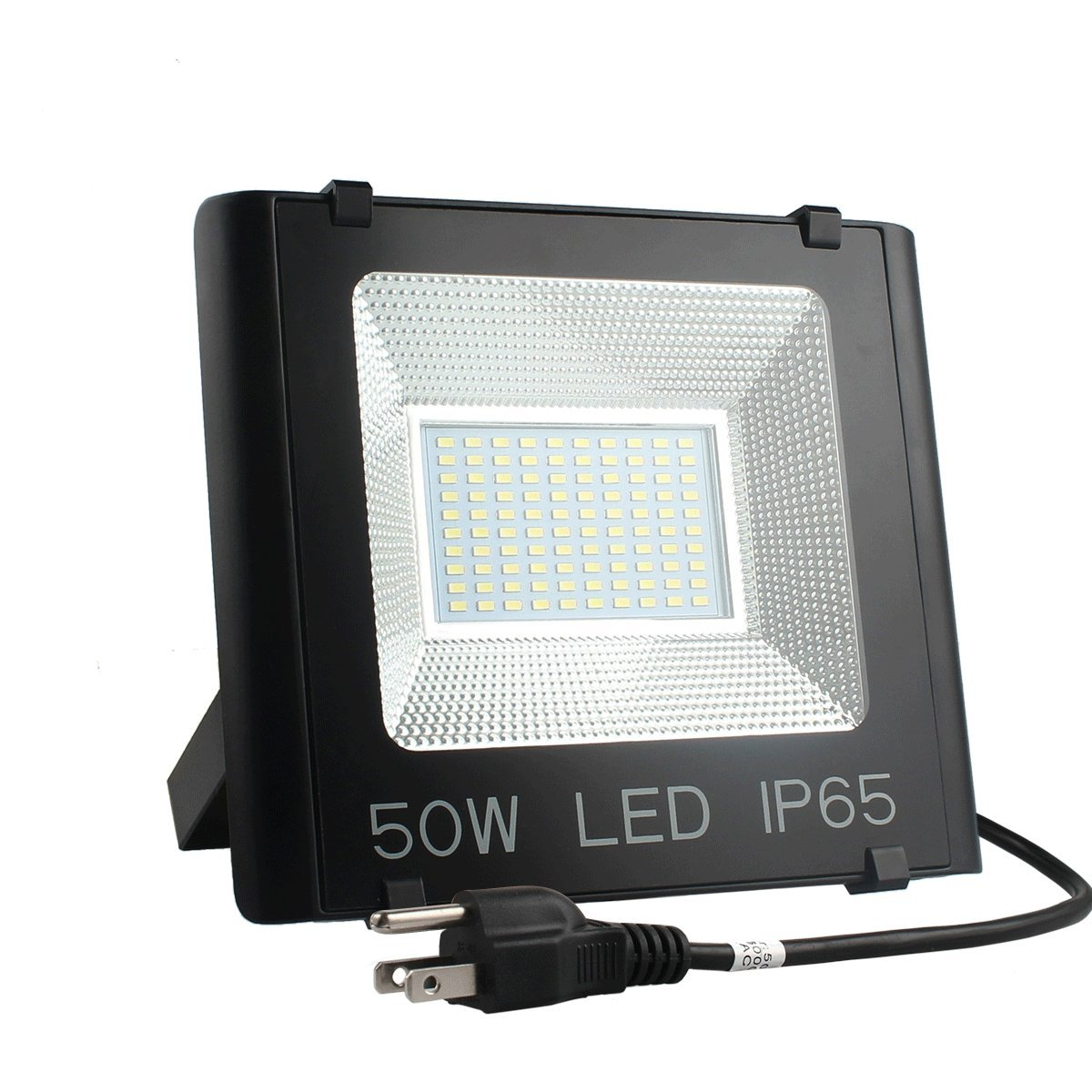 Betorcy 50W LED Flood Light Outdoor, IP65 Waterproof, (500W Equivalent), 5250lm 6500K Daylight White, Super Bright Security Lights, Landscape Lamp, For Home, Yard, Garage, Street, US 3-Plug