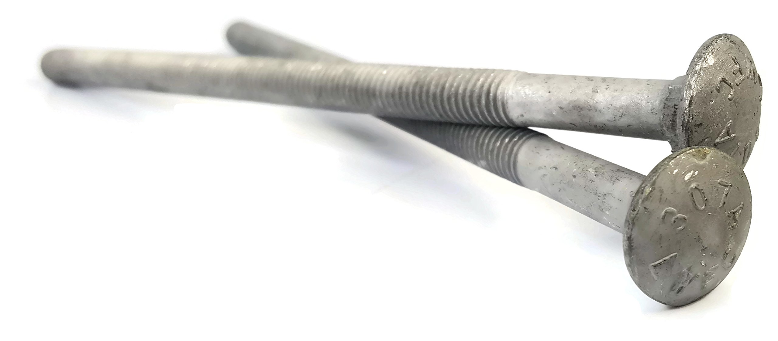 Carriage Bolt Hot Dipped Galvanized - 3/8-16 x 8 PT - Qty-25