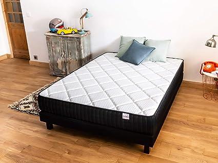 Conjunto colchón memoria + somier 140 x 190 Extra Memo hbedding – Espuma Visco y espuma confort