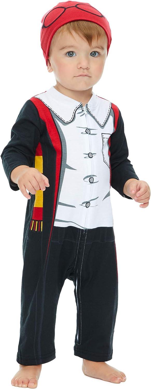 Warner Bros. Harry Potter Mono y Gorro Cierre de Cremallera Elegante Conjunto de Disfraz para Niño Pequeño 18 Meses