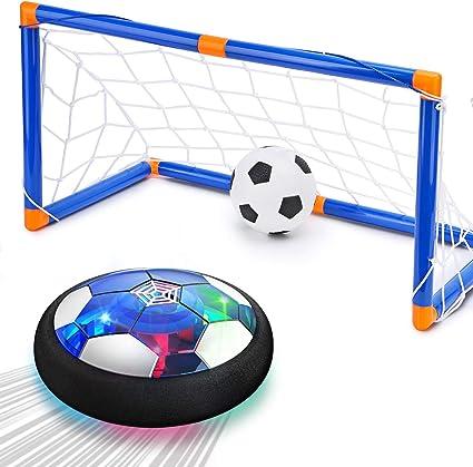 Juguete Para Niños Cuku Hover Pelota De Fútbol Para 3 4 5 6 7 8 Años De Edad Niño Niña 2 Porteros Y Bola Inflable Fútbol Flotante Interior Con Luz Led