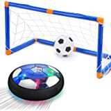 CUKU Kids Toy,Hover Soccer Ball Toys for 3 4 5 6 7 8 Years Old Boy Girl , 2 Goals and Inflatable Ball,Indoor Floating…