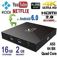 Android 6.0 TV Box,ShySky X96 Amlogic S905X Quad Core Kodi 16.1 2G/16G 4k 60fps TV Box Streaming Media Player