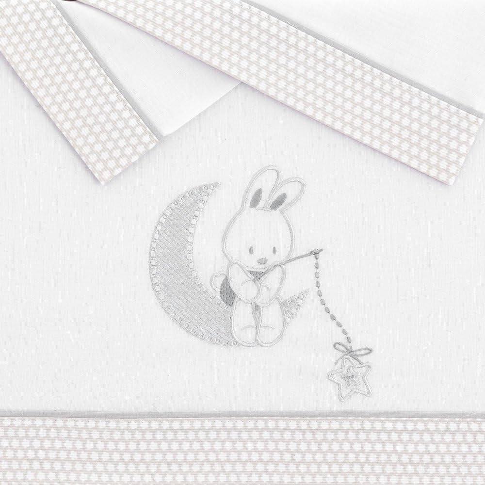 CUADRO Beig Pekebaby Tr/íptico S/ábanas Algod/ón minicuna de beb/é 50 x 80 cm