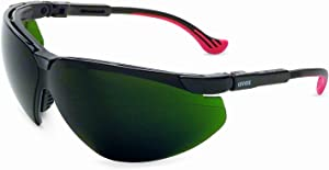 Uvex by Honeywell Genesis XC Safety Glasses, Black Frame with Shade 5.0 Infra-Dura Lens & HydroShield Anti-Fog Coating (S3307HS)