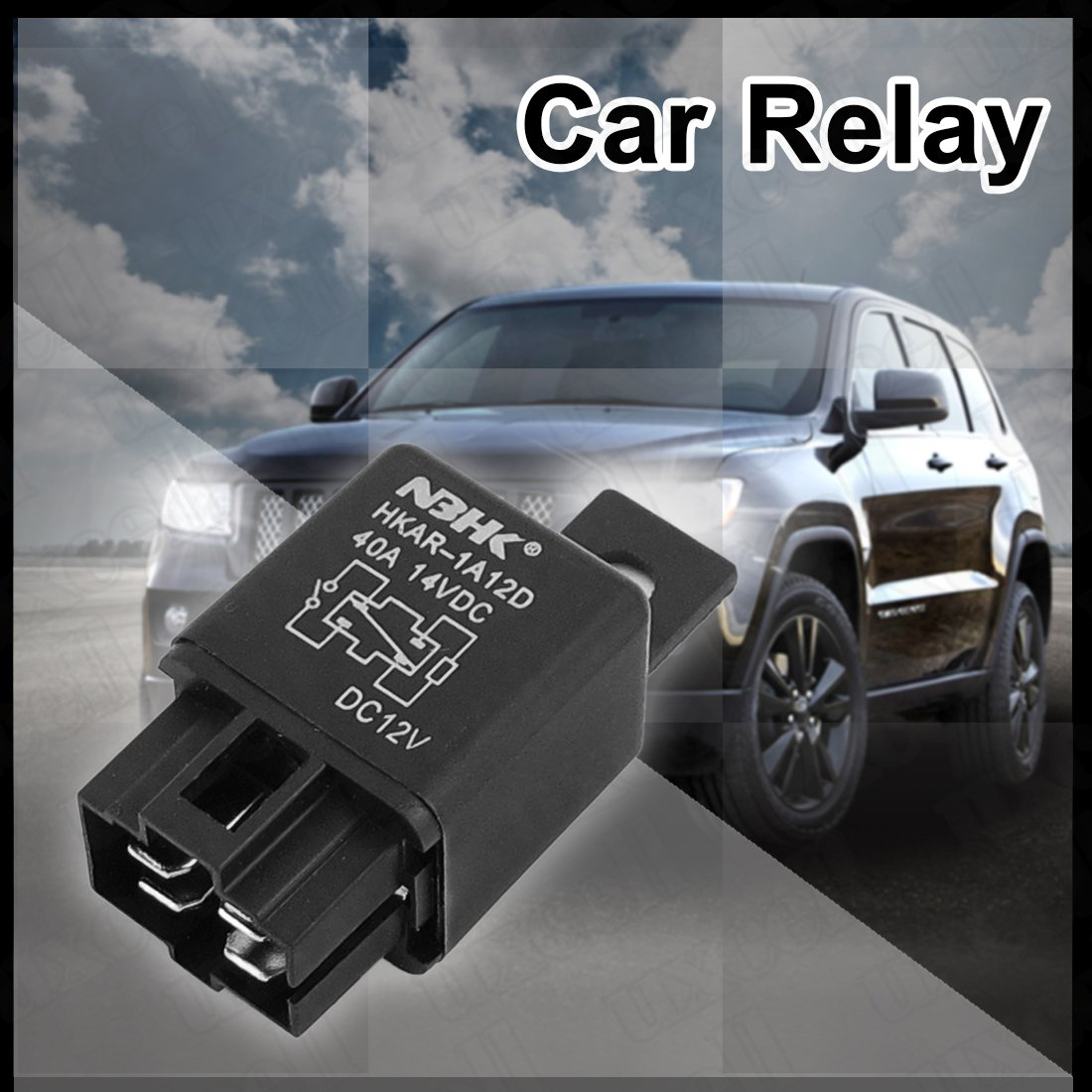 Amazoncom Uxcell DC V A  Terminal SPDT Relay For Car - Relay vehicle selection