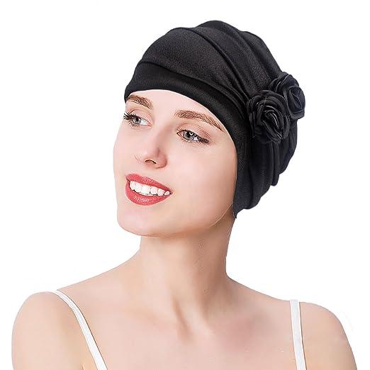 Floral Print Chic Pre-tied Chemo Beanie Cap Ethnic Turban Headwear Bandana  Hat 814dcefdb65