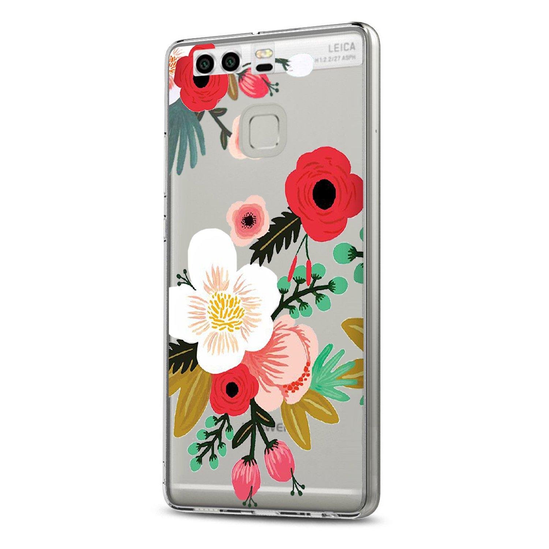 Vanki/® Compatibile con Huawei P9 Custodia Huawei P9 Modello in Bianco e Nero Morbido TPU Custodia Cover Cristallo limpido Trasparente Slim Anti Scivolo Custodia