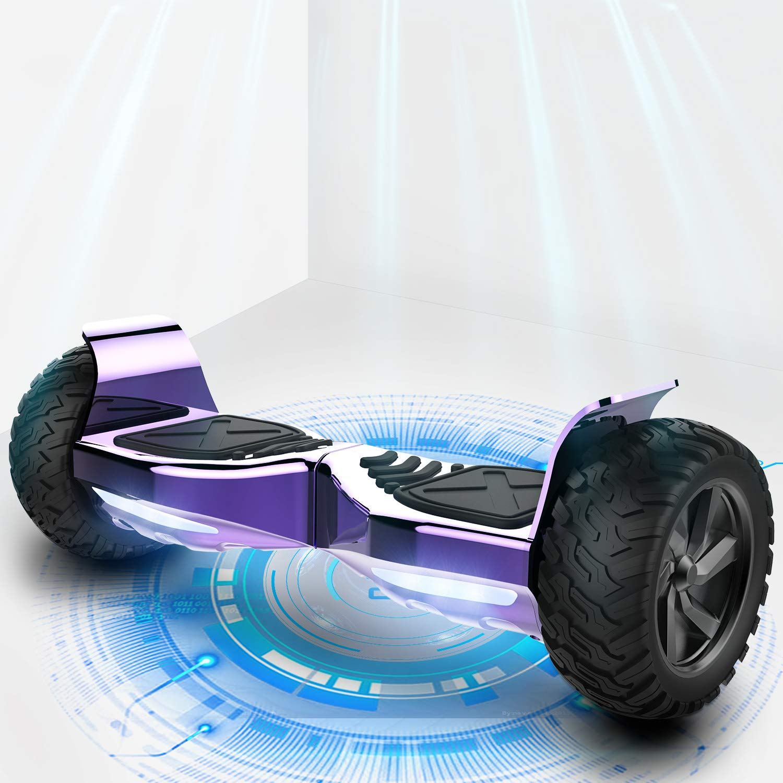 Self-Balance E-Scooter Tout Terrain avec LED,700W moteur Skateboard Gyropode Hover scooter Board 8,5 Pouces SUV Bluetooth/&App Markboard Overboard