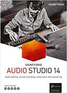 SOUND FORGE Audio Studio – Version 14 – recording, audio editing, restoration and mastering in one. [PC Download]