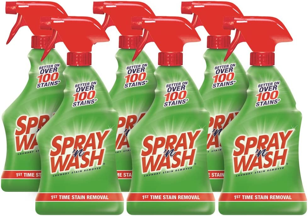 Spray N'Wash Pre-treat Laundry Stain Remover Spray Bottles, 6 Count