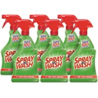 Spray N'Wash Pre-treat Laundry Stain Remover Bottles, Clear, 1.37 Pound (Pack of 6), 132 Fl Oz