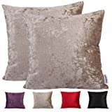 Comoco®-2pcs Solid Color Thick Velveteen Decorative Cushion Cover for Sofa Available In 4 Colors and 7 Sizes(60x60cm,Purple)