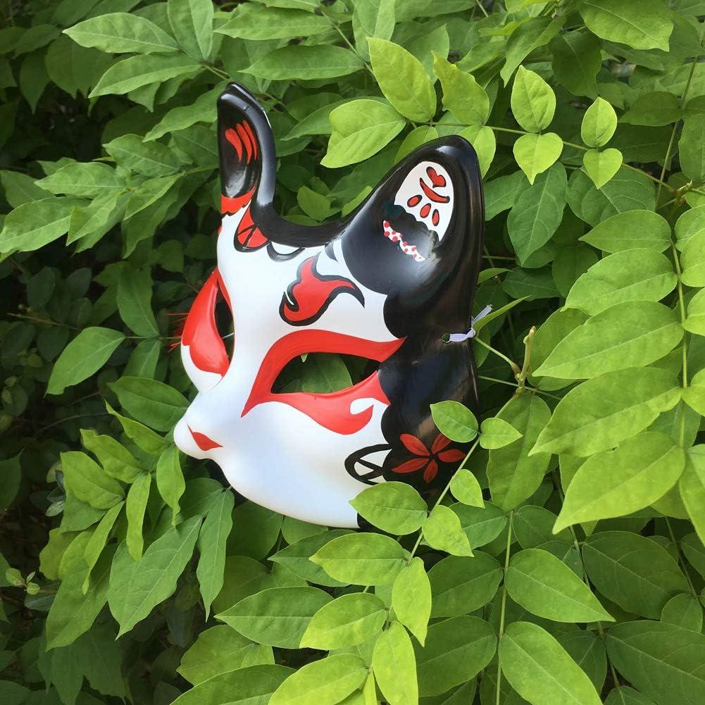 YangYong Kitsune Fox Mask for Masquerade Ball Animal Cosplay Kabuki Cat Masks