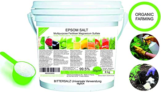 Abono Ecológico Sales de Epsom (sulfato de Magnesio) FERTILIZANTE ...