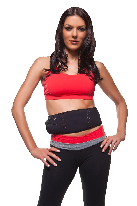 FLEX BELT Ab Belt Workout - Tone, Firm and Strengthen the Abdominal Muscles, Black 000001