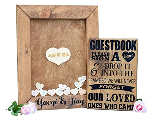 100-250 guest Drop Top Guest Book  Alternative wedding guest book  Unique  idea  Heart Drop box guest book Silver Guestbook Drop Top box