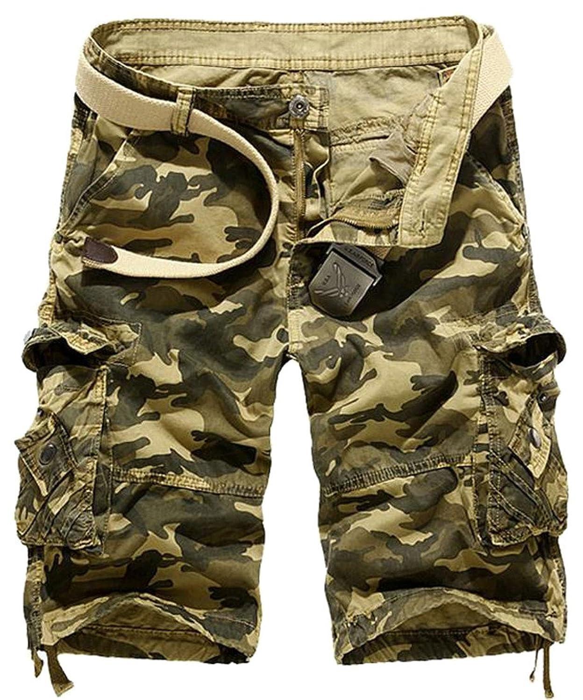 Cromoncent Men Sport Multi Pockets Cargo Outdoor Trousers Pants