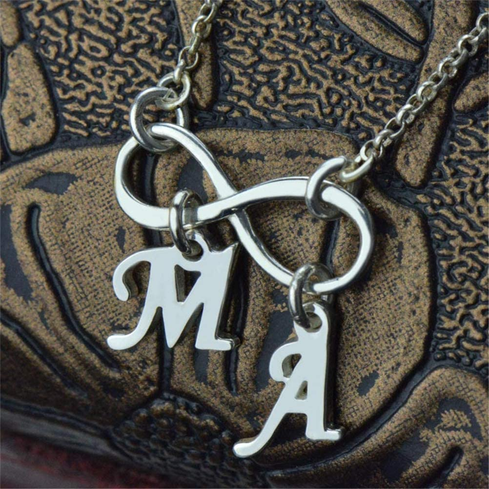FACOCO Custom Infinity Necklace Double Initials Fashion Personalized Customized Necklace
