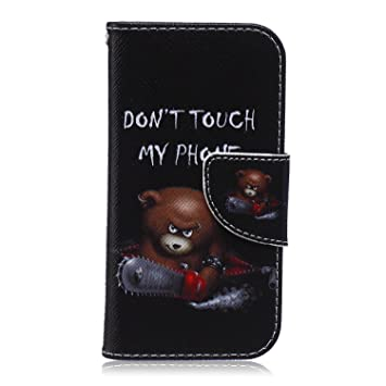 CaseHome Compatible For Samsung Galaxy S4 Mini Wallet Funda,Carcasa PU Leather Cuero Suave con Flip Case TPU Gel Silicona Billetera con Tapa Libro ...