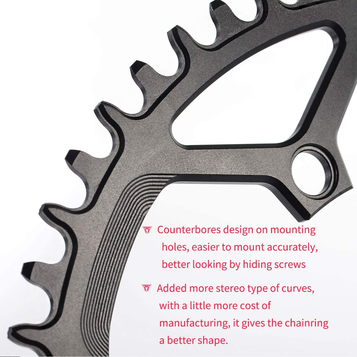 PASS QUEST 130BCD Oval Narrow Wide Chainring//Chain Ring 42T-52T Bike Bicycle Chainwheel//Chain Wheel deore Crankset