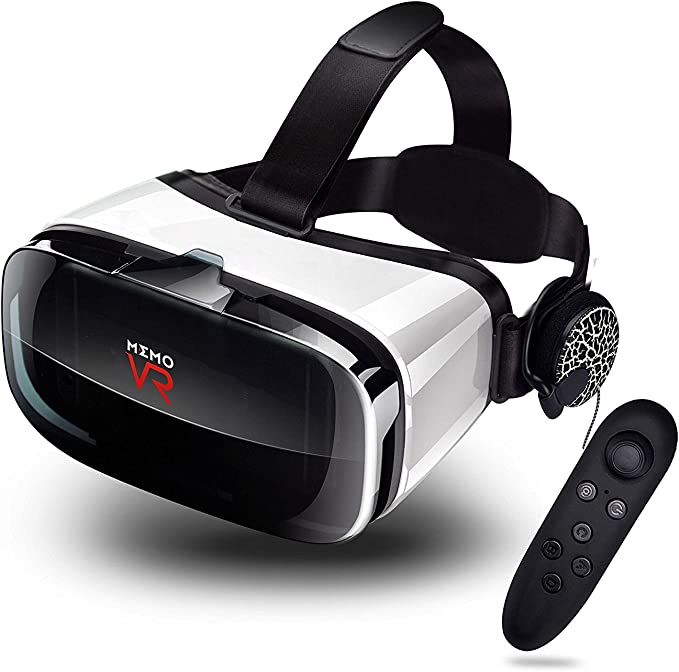 Virtual Reality headset and remote