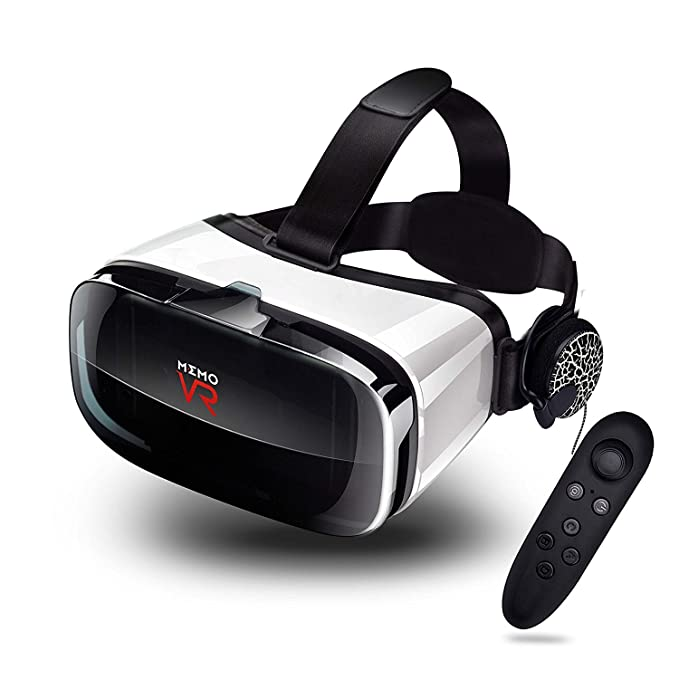 c20b0f9eaa29 MEMO Virtual Reality Headset - with Remote Controller Immersive 3D VR  Glasses Virtual Reality Headset with