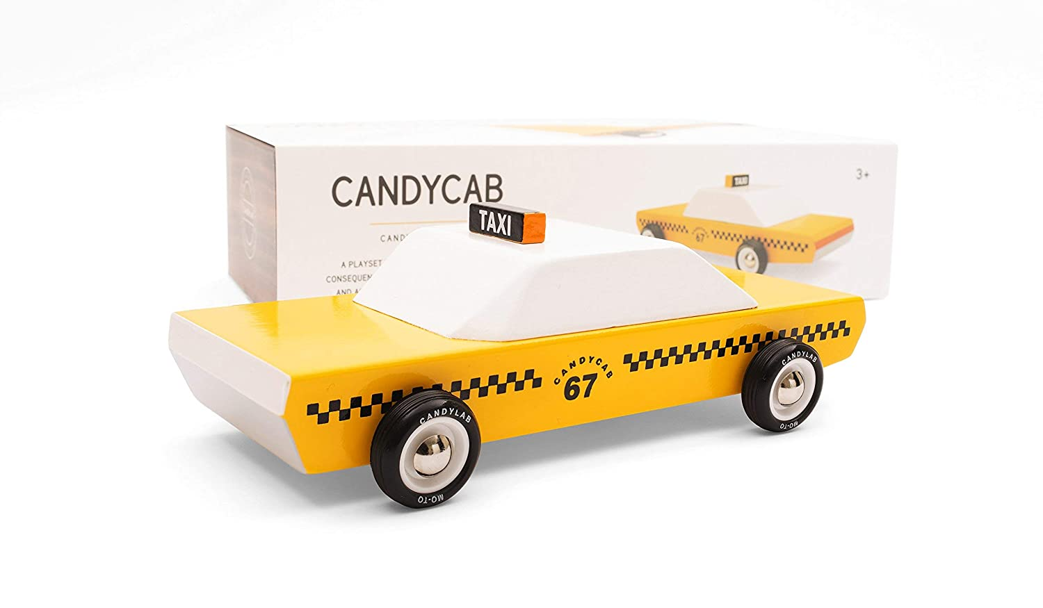 Candylab Toys Wooden Car Candyvan Armored Kids Mini Toy Car Solid Beech Wood