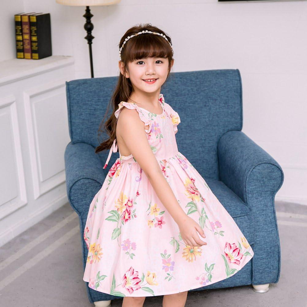 Amur Leopard Estate Sling dress Vestito senza manica per bambina 2-10 anni