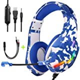 Gaming Headset PS4 Headset, Xbox One Headset with Noise Canceling Gaming Headphones Stereo Sound Headphones with Bass…