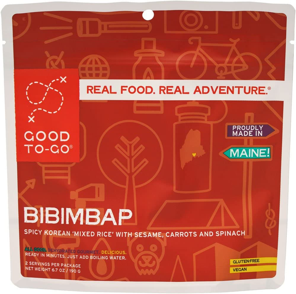 GOOD TO-GO Bibimbap | Dehydrated Backpacking and Camping Food | Lightweight | Easy to Prepare