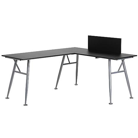 Amazon.com: Flash Muebles laminado L-Shape computadora de ...