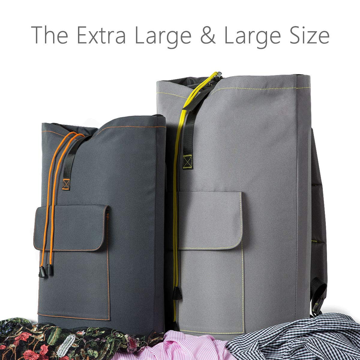 WOWLIVE Large Laundry Bag Laundry Backpack Hanging Laundry Hamper  Adjustable Shoulder Straps Camping Bag Waterproof Durable Collage Apartment  Dorm Sports ... d1dc3a4cc5a91