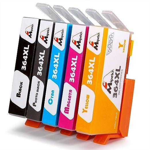 20 opinioni per Mipelo Compatibili HP 364XL Grande capacità Cartucce d'inchiostro, 5 Colori,