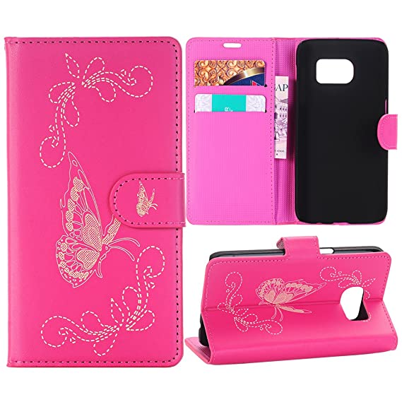galaxy s7 case baokai pu leather flower muster wallet case for samsung galaxy s7 tpu - Galaxy Muster