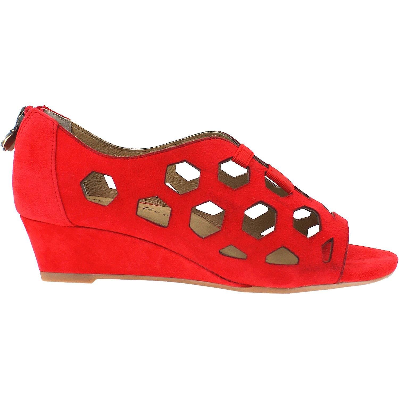 Bettye Muller Women's Sean Wedge Sandal B077ZKK9T3 8 B(M) US Red