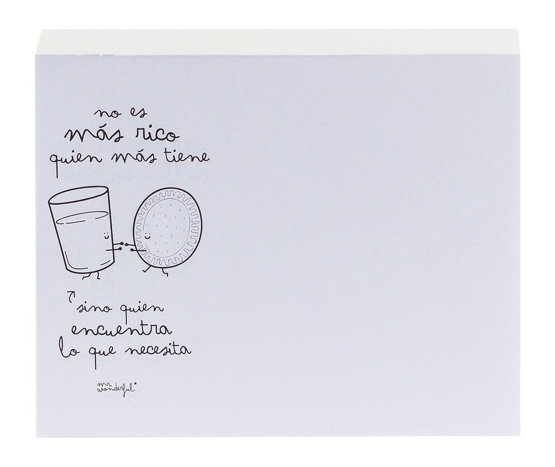 Mr. Wonderful WOA00917 - Bloc de notas con consejos, diseño No te olvides