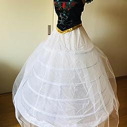 Amazon パニエ ワイヤー 6本 ロング ボリュームアップ ドレスの下に着る 花嫁 結婚式 発表会 ウエディングドレス ホワイト チュールあり パーティードレス 通販