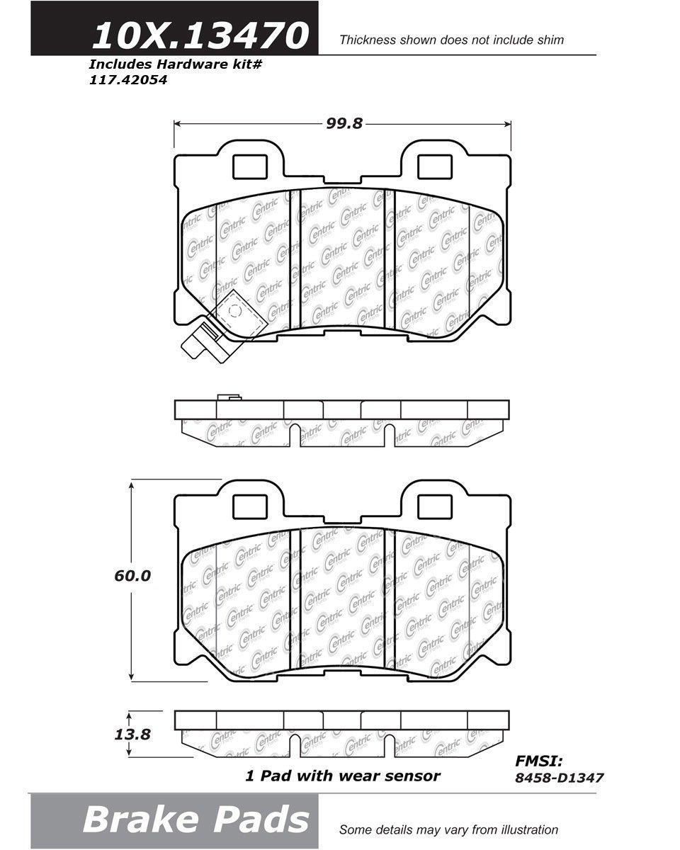 StopTech 102.13470 Brake Pad Metallic