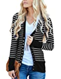 Basic Faith Women's S-3XL V-Neck Button Down Knitwear Long Sleeve Soft Knit Casual Cardigan Sweater