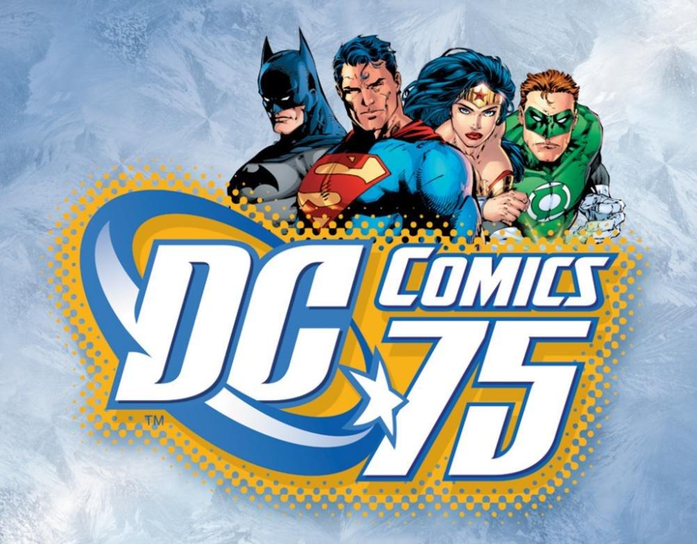 DC Comics 75th Anniversary Tin Sign 16 x 12in